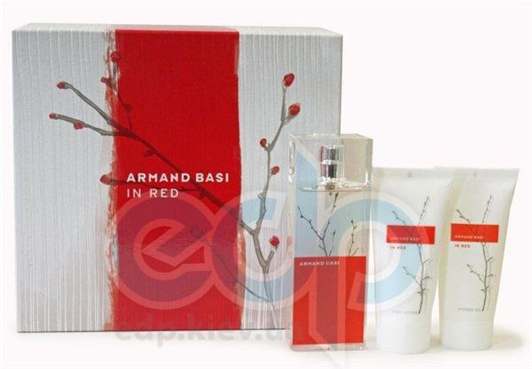 Armand Basi In Red -  Набор (туалетная вода 100 + лосьон-молочко для тела 100 + гель для душа 100)