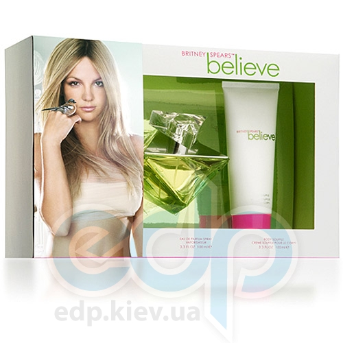 Britney Spears Believe -  Набор (парфюмированная вода 100 + крем для тела 100)