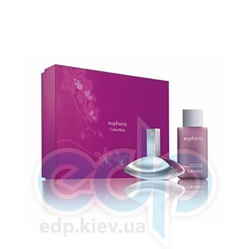 Calvin Klein Euphoria -  Набор (парфюмированная вода 100 + лосьон-молочко для тела 100 + гель для душа 100)