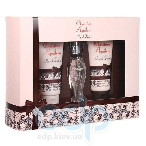 Christina Aguilera Royal Desire -  Набор (парфюмированная вода 30 + лосьон-молочко для тела 50 + косметичка)