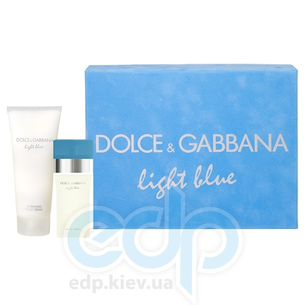 Dolce Gabbana Light Blue -  Набор (туалетная вода 50 + лосьон-молочко для тела 50+ косметичка)