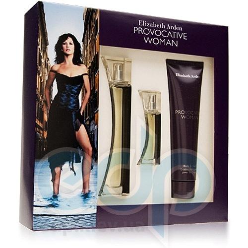 Elizabeth Arden Provocative Woman -  Набор (парфюмированная вода 50 + лосьон-молочко для тела 100 + mini 10)
