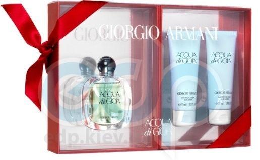 Giorgio Armani Acqua di Gioia -  Набор (парфюмированная вода 50 + 2*лосьон-молочко для тела 50)