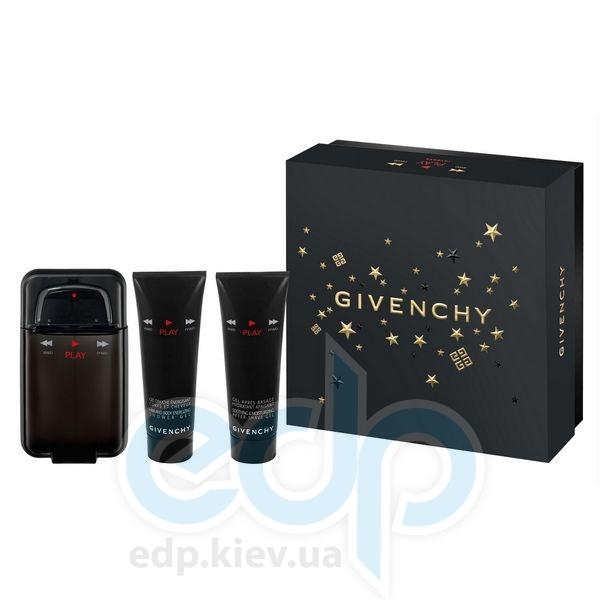 Givenchy Play Intense -  Набор (туалетная вода 100 + гель после бритья 75 + гель для душа 75)