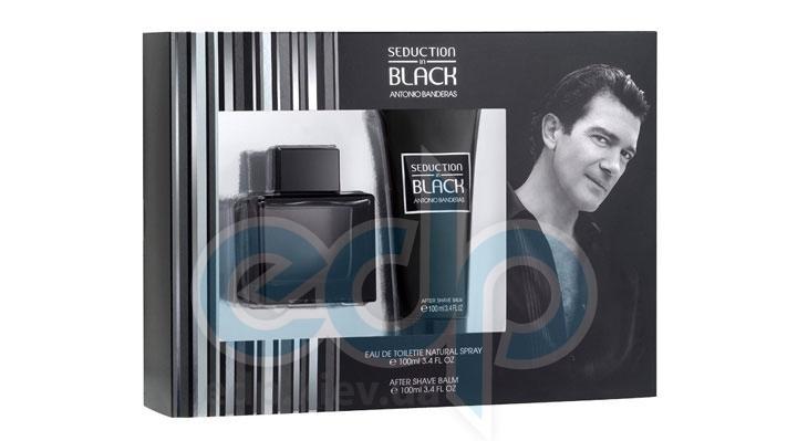 Antonio Banderas Seduction in Black -  Набор (туалетная вода 100 + лосьон после бритья 100)