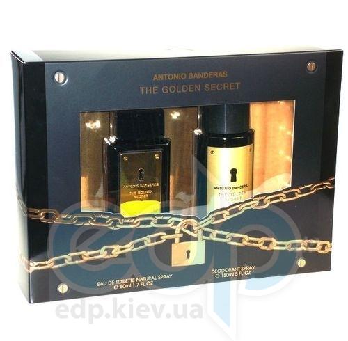 Antonio Banderas The Golden Secret -  Набор (туалетная вода 50 + дезодорант 150)