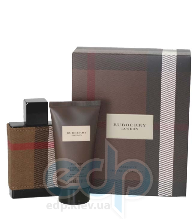Burberry London Fabric For Men -  Набор (туалетная вода 100 + balm 100 +гель для душа 100)