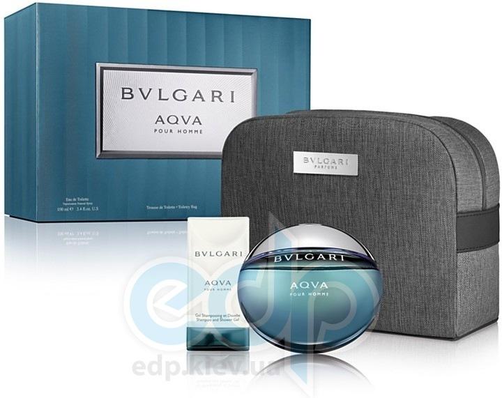 Bvlgari Aqva Pour Homme -  Набор (туалетная вода 100 + гель для душа 100ml + Sport Bag)