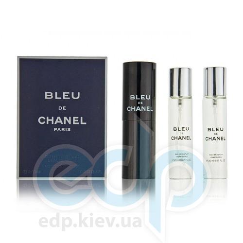Bleu de Chanel - туалетная вода -  3x20 ml