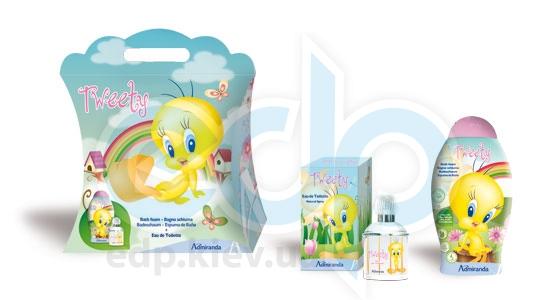 Admiranda Tweety - Набор подарочный (Туалетная вода Tweety 50 ml + Пена для ванны Tweety 250 ml + чемоданчик)