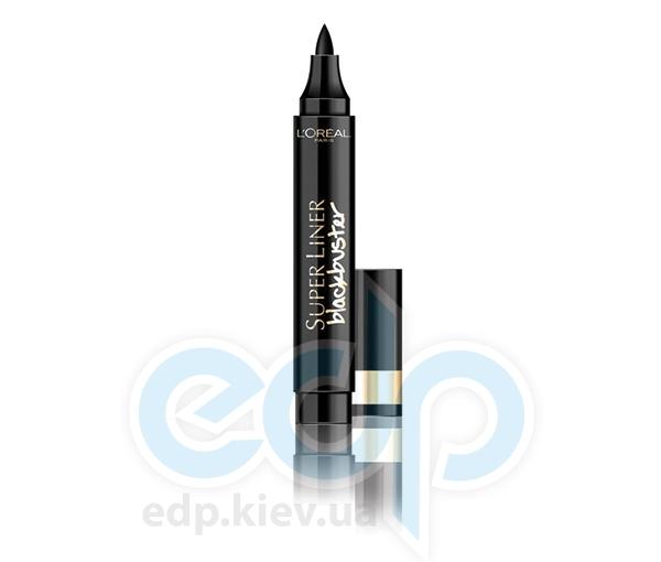 Подводка-фломастер для глаз с фетровым аппликатром Blackbuster черная 6ml
