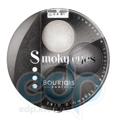 Тени для век 3-цветные компактные Bourjois - Smoky Eyes №16 Серо-черный - 4.5 g