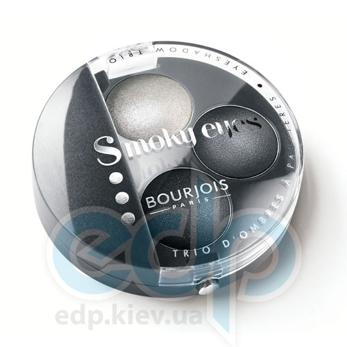 Тени для век 3-цветные компактные Bourjois - Smoky Eyes №01 Серый - 4.5 g