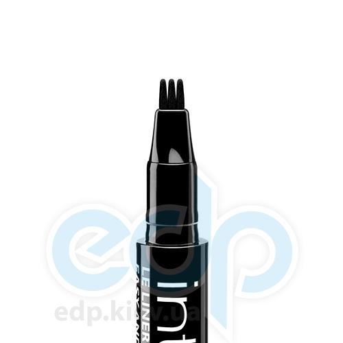 Подводка для глаз стойкая, жидкая с тройным аппликатором Bourjois - Intuitive Liner 24h №02 Черная - 0.66 ml