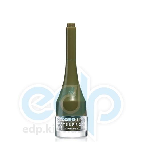 Подводка для глаз водостойкая жидкая Bourjois - Record Liner Waterproof №014 Хаки с золотистыми частичками