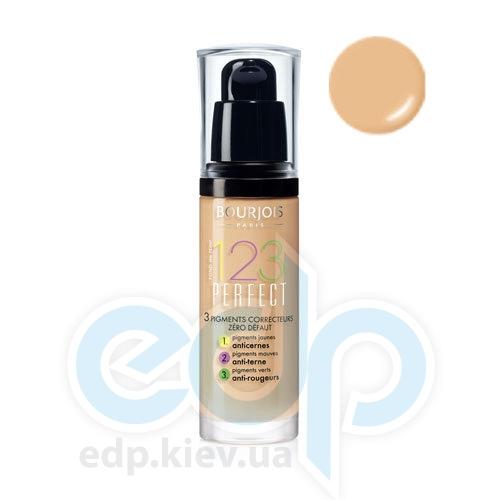 Тональный крем для лица матирующий Bourjois - 1,2,3 Perfect №55 SPF 10 Темно-бежевый - 30 ml