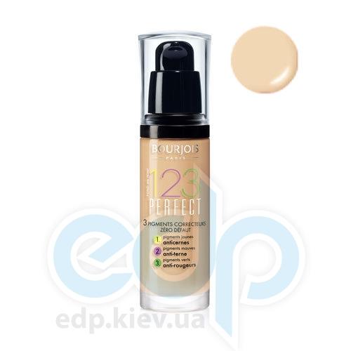 Тональный крем для лица матирующий Bourjois - 1,2,3 Perfect №52 SPF 10 Ванильный - 30 ml