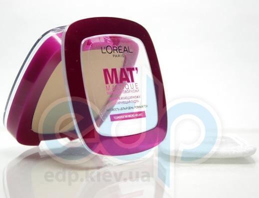 Пудра для лица компактная матирующая L'Oreal - Mat Magique №03 Бежево-розовый - 9 g
