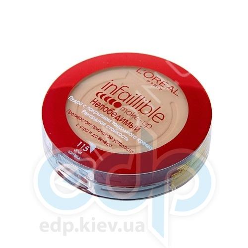 Пудра для лица компактная матирующая L'Oreal - Infailible №145 Розово-бежевый - 9 g