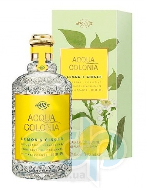 Acqua Colonia 4711 Lemon and Ginger (лимон и имбирь)  Набор подарочный ( туалетная вода 170 ml + гель для душа 75 ml)