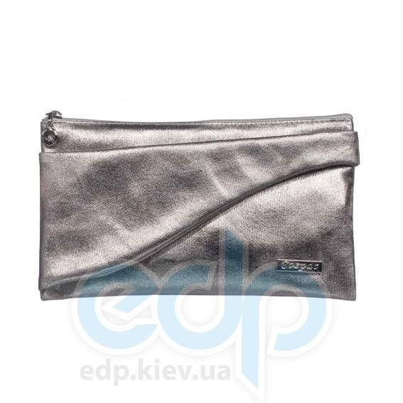 Mades Cosmetics - Косметичка на молнии PU Metallic Silver серебристый металлик - 17.5 х 11.5 х 5.5 см