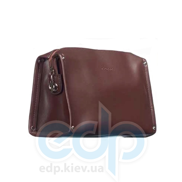 Mades Cosmetics - Косметичка на молнии PU Matt Classic шоколад - 21 х 11.5 х 8см