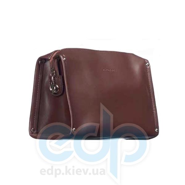 Mades Cosmetics - Косметичка на молнии PU Matt Classic шоколад - 21 х 11.5 х 3см