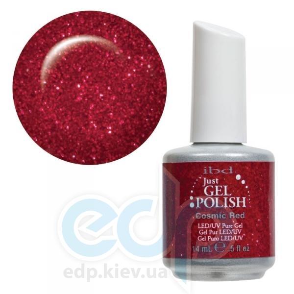 ibd - Just Gel Polish - Cosmic Red Глубокий темно-красный с блестками. № 519 - 14 ml