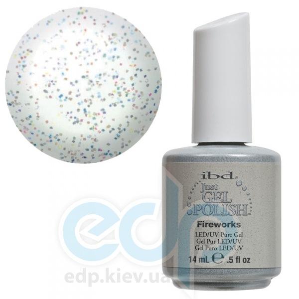 ibd - Just Gel Polish - Fireworks Полупрозрачный с разноцветными блестками. № 509 - 14 ml
