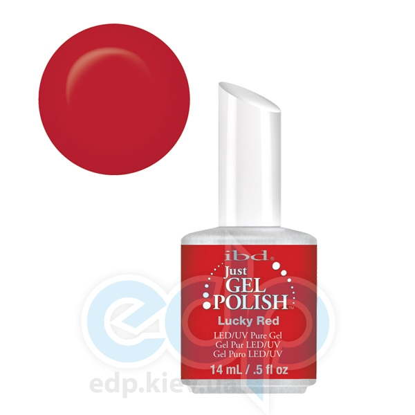 ibd - Just Gel Polish - Lucky Red Красный насыщенный, глянец. №584 - 14 ml