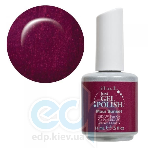 ibd - Just Gel Polish - Maui Sunset Сиренево-бордовый с перламутром. №517 - 14 ml