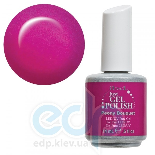 ibd - Just Gel Polish - Peony Bouquet Фуксия с микроблеском. №526 - 14 ml