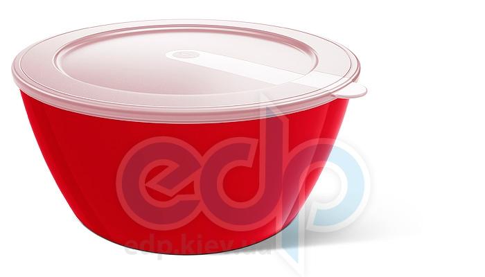 Emsa - Миска с крышкой объем 1 л. красная MyColours Savio (арт. 509521)