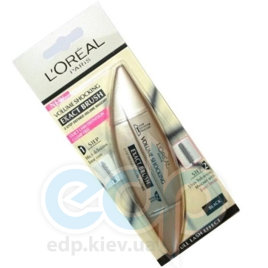 L'Oreal Тушь для ресниц Lоreal -  Volume Shocking Exact Brush Black/Черный