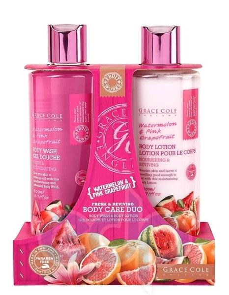 Grace Cole - Набор для тела Body Care Duo Watermelon & Pink Grapefruit (гель для душа очищающий, освежающий 500 ml + лосьон для тела увлажняющий, питательный 500 ml)