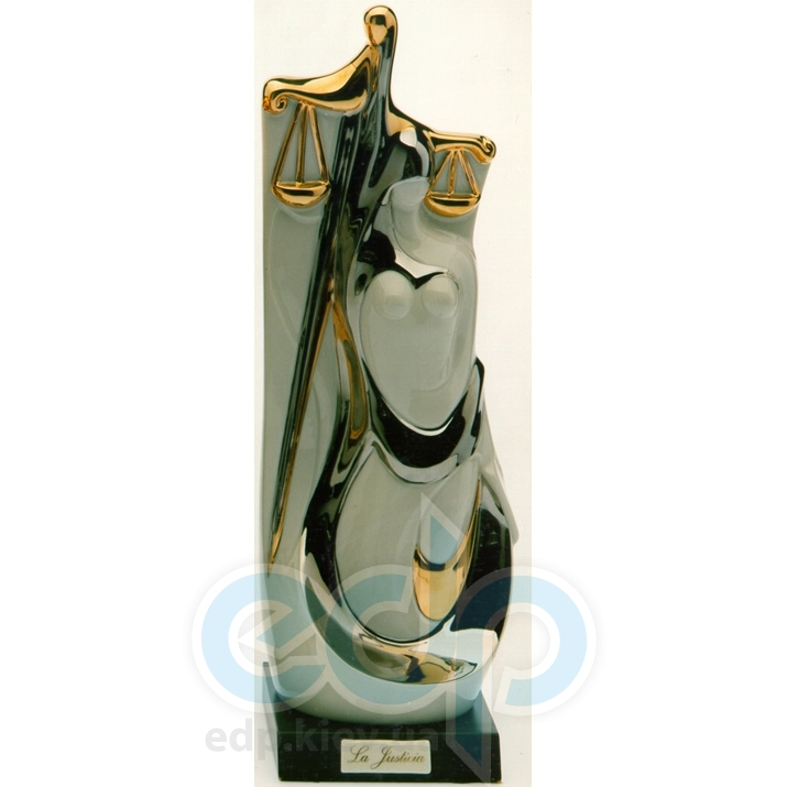 Galos (статуэтки) Статуэтки Galos (Испания) - Юстиция - 33 x 12 см. (фарфор, покрытие платиной, золотом)