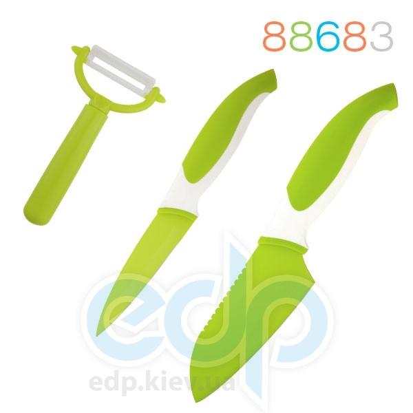 Granchio - Набор ножей и овощечистка 3 предмета зеленый (арт. 88683)