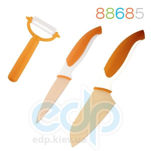 Granchio - Набор ножей и овощечистка 3 предмета оранжевый (арт. 88685)