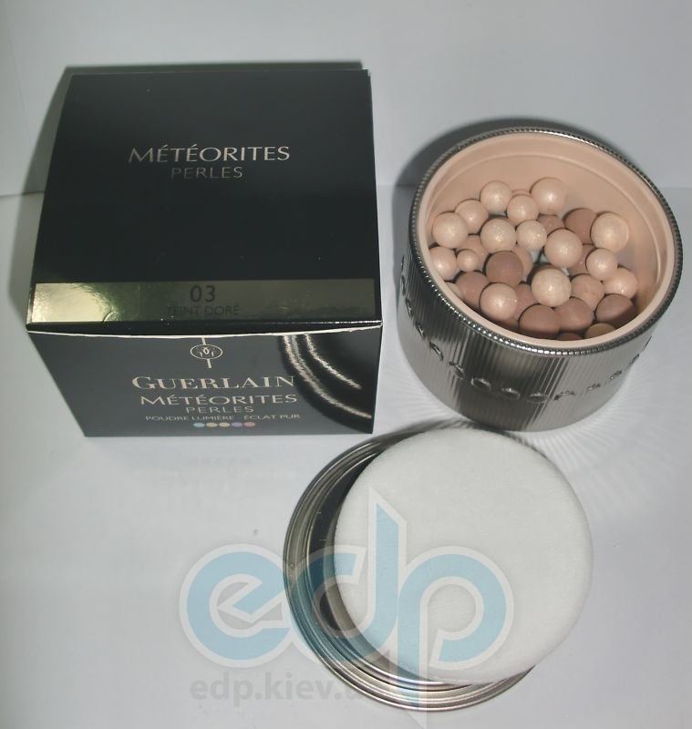 Пудра для лица в шариках Guerlain -  Meteorites Perles Illuminating Powder №03 Teint Dore