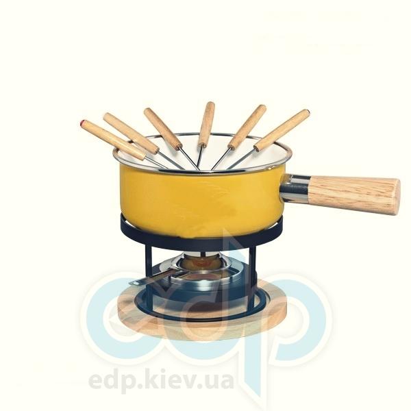 Granchio (посуда) Granchio -  Эмалированный набор для фондю Granchio Ricotta Fonduta - 10 предметов (арт. 88552)