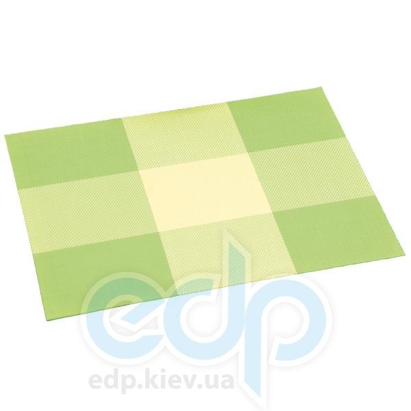 Kesper - Салфетка термостойкая из пластика зеленые квадраты 43 х 29 х 0.1 см (арт. 77562)