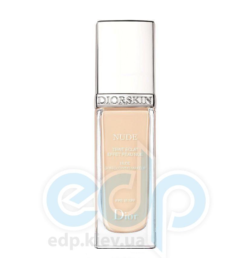 Тональный крем Christian Dior - Diorskin Nude Teint Eclat Effet Peau Nue SPF15 №010 Ivory - 30 ml