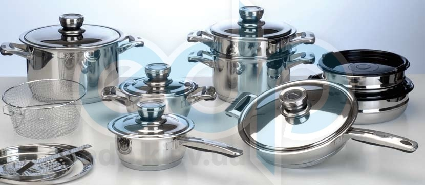 Berghoff Cook&Co (посуда) COOK and Co (от Berghoff) -  Набор посуды -  20 предметов с металлическими крышками (арт. 2800263)