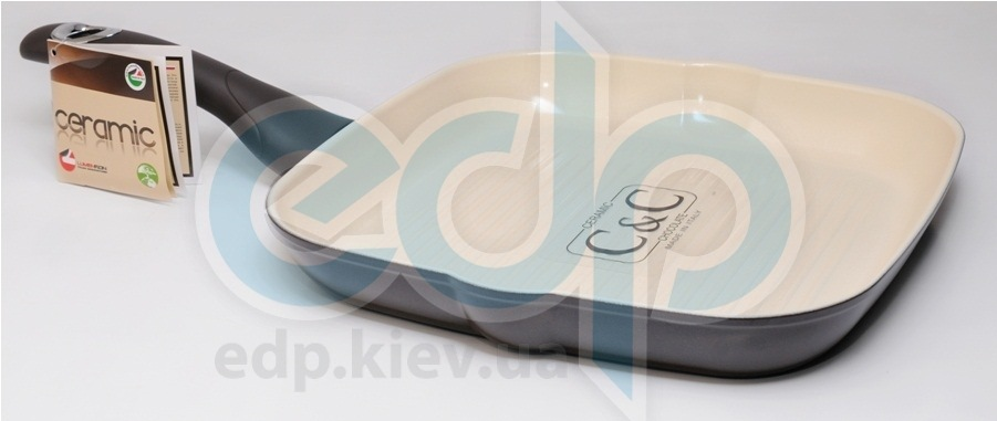 Lumenflon - Сковорода-гриль Ceramic & Chocolate 28 см (арт. CECBF28)