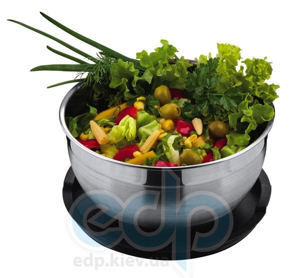 Vinzer (посуда) Vinzer -  Салатница - 24 см, нержавеющая сталь, пластиковая крышка (арт. 69344)