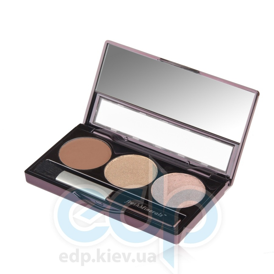 freshMinerals - Triple eyeshadow, Country Girl Минеральные тени-трио - 4.25 gr (ref.905560)