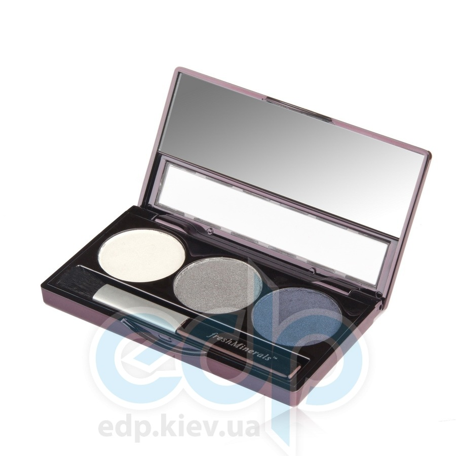 freshMinerals - Triple eyeshadow, Urban Rain Минеральные тени-трио - 4.25 gr (ref.905568)