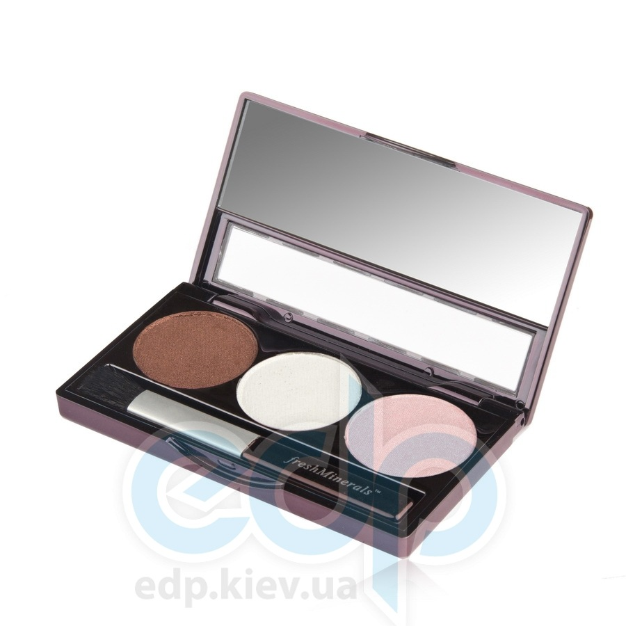 freshMinerals - Triple eyeshadow, Strawberry Chocolate Минеральные тени-трио - 4.25 gr (ref.905571)