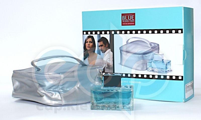 Antonio Banderas Blue Seduction for Women -  Набор (туалетная вода 100 + сумочка)