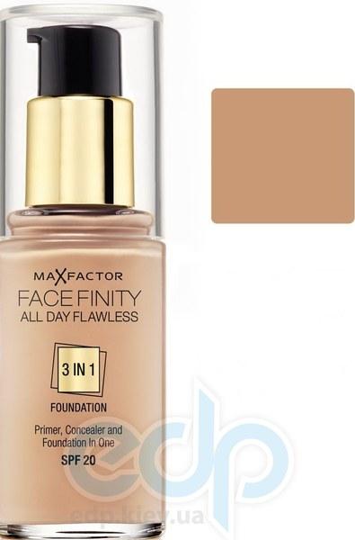 Тональный крем для лица матовый для всех типов кожи Max Factor - Facefinity All Day Flawless 3-in-1 Foundation №75 SPF 20 Золотистый - 30 ml